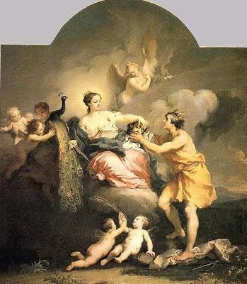 Hera, a personificação da esposa ideal grega. Implacável e agressiva com suas rivais, perseguindo-as sem compaixão.